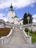 Church of St. Andrew, Ruzomberok, Slovakia stock image