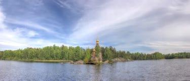 The Church of St. Andrew , Vasilevo, Karelian isth Stock Photo