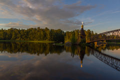 The Church of St. Andrew on Vuoksa, Karelian isthmus, Leningrad oblast ,Russia Stock Images