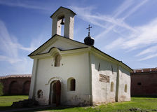 Church of St. Andrey Stratelates in Kremlin of Novgorod The Grea Royalty Free Stock Photo