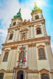 Church of St. Anne- Catholic church in Budapest, on the right ba Stock Photo