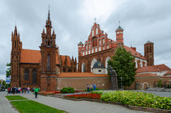 Church of St. Anne and church of the Bernardine in Vilnius, Lith Stock Photography