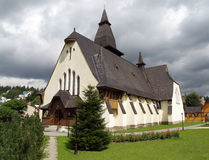 Church of St. Anne, Oravska Lesna, Slovakia stock photo