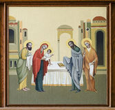 Church of St. Anne - Presentation of Jesus at the Temple. The internal painting of the church of St. Anne, an illustration of the Presentation of Jesus at the Stock Photos