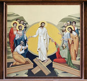 Church of St. Anne - The Resurrection of the Lord. The internal painting of the church of St. Anne, an illustration of the Resurrection of the Lord. The author Stock Photo