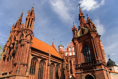 Church of St. Anne, Vilnius, Lithuania Stock Image