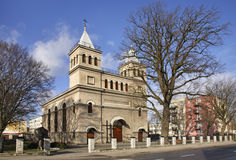 The Church of St. Anthony in Braniewo. Poland Stock Photos