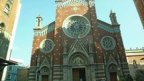 Church of St. Anthony, Istanbul stock video footage