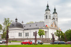 The church of St. Antoniego Padewskiego in Sokolka, Poland Royalty Free Stock Photo