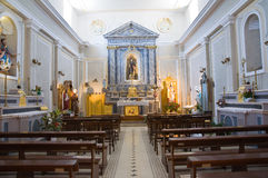 Church of St. Antonio. Pietragalla. Basilicata. Italy. Royalty Free Stock Photo