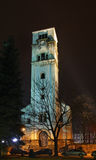 Church of St. Antun – clock tower (Sahat kula) in Bihac. Bosnia and Herzegovina Royalty Free Stock Images