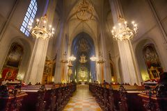 Church of St. Augustine in Vienna Royalty Free Stock Photo