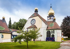 Church of St. Barbara in Barnbach, Austria Royalty Free Stock Photos