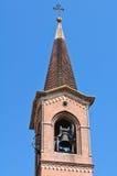 Church of St. Bartolomeo. Roccabianca. Emilia-Romagna. Italy. Detail of the Church of St. Bartolomeo. Roccabianca. Emilia-Romagna. Italy Stock Photo