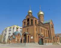 The Church of St. Basil the Great in Chelyabinsk. Stock Photo
