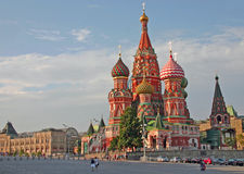 Church of St Basils on Red Square Moscow Stock Image