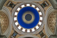 Church of St. Borromeo. Church's dome wide angle shot taken hand-held Royalty Free Stock Image