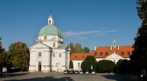 Church of St. Casimir (Ko�ció� �w. Kazimierza) - New Town  Warsaw Stock Images