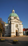 Church of St. Casimir  on New town market place in Warsaw. Poland Stock Images