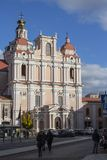 Church of St. Casimir is a Roman Catholic church in Vilnius` Old Town. Lithuania.  stock image