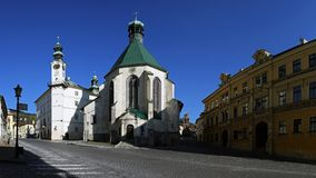 Church of St. Catherine, Banska Stiavnica, Slovakia Royalty Free Stock Image