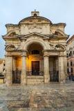 The Church of St Catherine,Valletta,Malta. Evening street view Stock Photography