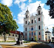 Church of St. Catherine in Vilnius, autumn time. Lithuania Royalty Free Stock Image