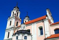 Church of St. Catherine in Vilnius, spring time Stock Photos