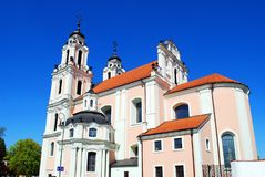 Church of St. Catherine in Vilnius, spring time Royalty Free Stock Image
