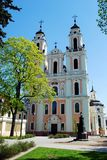 Church of St. Catherine in Vilnius, spring time Royalty Free Stock Photography