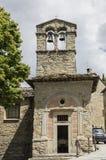 Church of St. Christopher, Cortona, Tuscany, Italy. Facade of the Church of St. Christopher with bells, Cortona, Tuscany, Italy Stock Photography