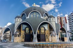 Skopje, Macedonia. Church of St. Clement of Ohrid (Soborna Crkva Royalty Free Stock Photo