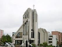 Church of St. Cyril and Methodius in Slovakia Poprad. Royalty Free Stock Photo
