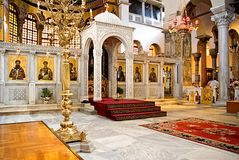 Church of St. Demetrius in Thessaloniki stock photos