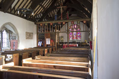Church of St Digain, Llangernyw, Wales Stock Images