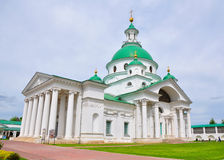 Church of St. Dmitri of Rostov in Spaso-Yakovlevsky Monastery in Rostov. Russia. Five-domed church was built in the classical style Stock Photography