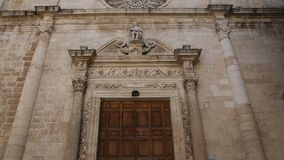 Church of St. Domenico. Monopoli. Puglia. Italy. stock footage