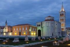 Church of St. Donat at night. Zadar. Croatia Stock Photo