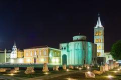 Church of St. Donat at night. Zadar. Croatia Royalty Free Stock Photos