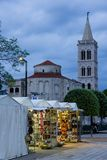 Church of St. Donat at night. Zadar. Croatia Royalty Free Stock Images