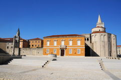 Church of st. Donat in Zadar, Croatia. Church of st. Donat, a monumental building from the 9th century in Zadar, Croatia Stock Images