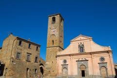 Church of St. Donato in Civita di Bagnoregio Stock Image