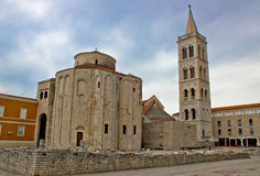 Church of St. Donatus in Zadar, Croatia. Traditional mediterranean architecture Royalty Free Stock Image