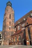 Church of St Elizabeth in Wroclaw Stock Image
