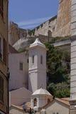 Church St Erasme in the old town of Bonifacio, Corsica, France, Europe Royalty Free Stock Photos