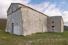 The church of st. erasmo, cesi terni Stock Photos