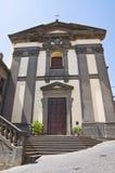 Church of St. Eutizio. Soriano nel Cimino. Lazio. Italy. Perspective of the Church of St. Eutizio. Soriano nel Cimino. Lazio. Italy Stock Photography