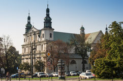 Church of St. Florian in the square of Jan Matejka. Kracow, Poland, Europe – September 2016. Church of St. Florian in the square of Jan Matejka Stock Images