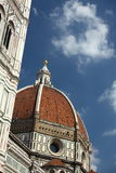 Church St. Flowers duomo dome  santa maria firenze Royalty Free Stock Photo