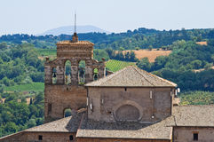 Church of St. Francesco. Orvieto. Umbria. Italy. Stock Images